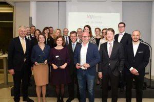 Gruppenfoto mit den Gewinnern, Teilnehmern und Gästen des Medienpreis Mittelstand NRW 2019
