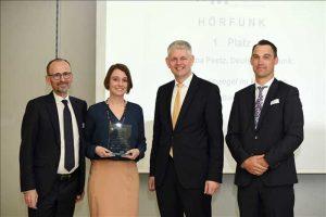 Kategorie Hörfunk Gewinnerin Katharina Peetz (Deutschlandfunk)